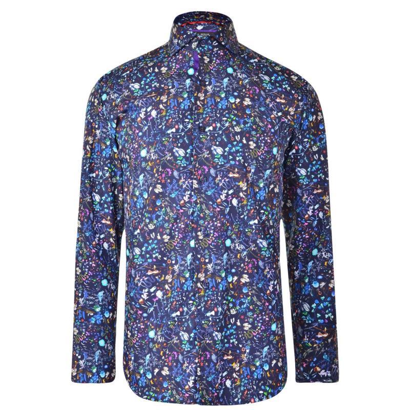 Jiggler Lord Berlue Floral Shirt Navy