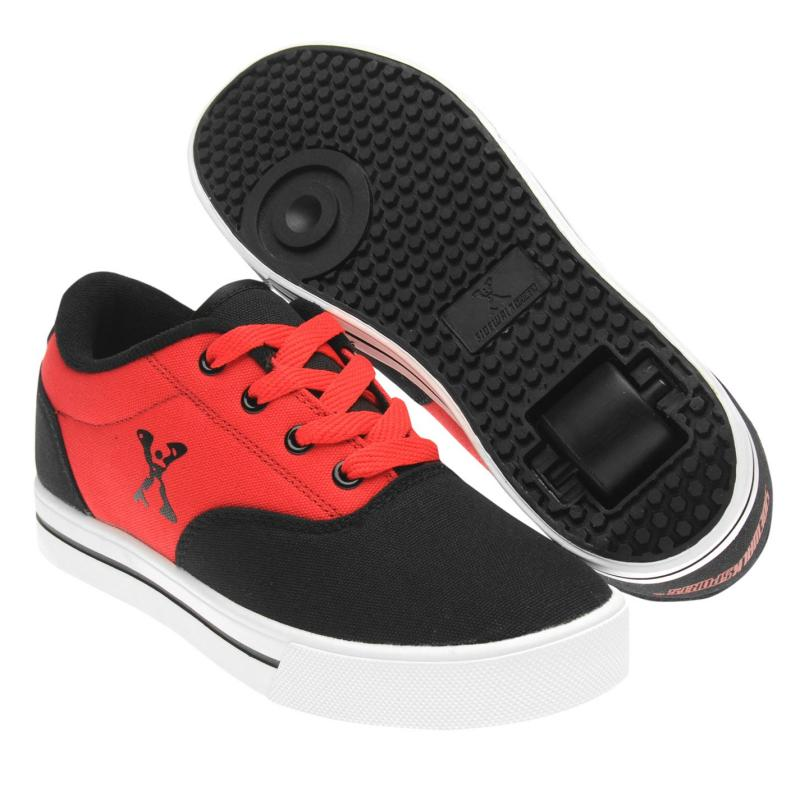 Boty Sidewalk Sport Canvas Roller Trainers Child Boys Black/Red