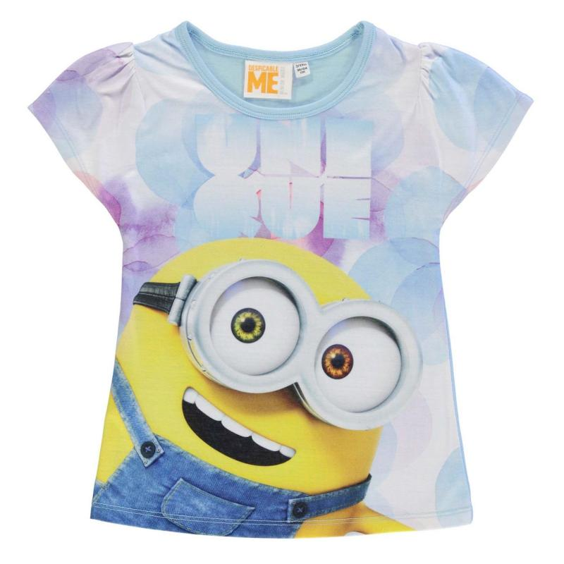 Character Short Sleeve T Shirt Infant Girls Minions