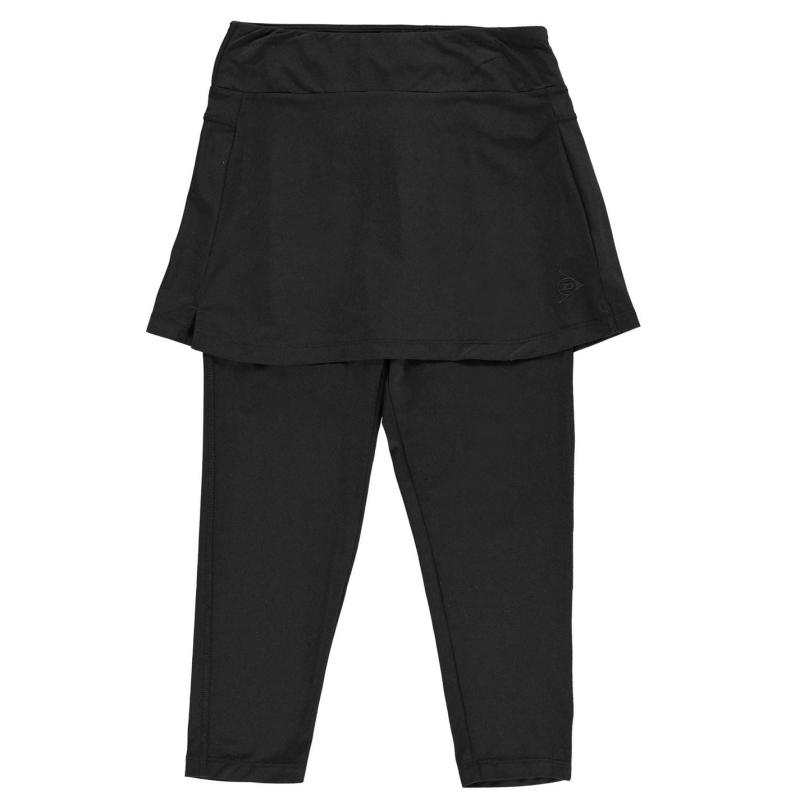 Tričko Dunlop Performance Skort Capris Junior Girls Black