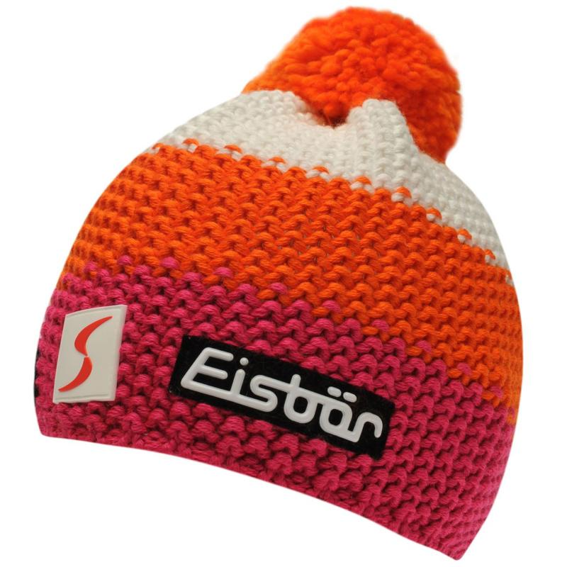 Eisbär Eisbar Fergus Neon Ski Hat Juniors White/Pink