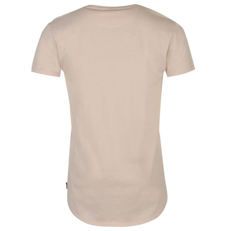 Tričko Fabric Drop Hem Tee Shirt Light Pink
