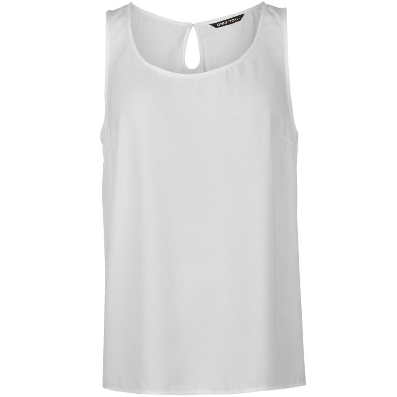 Only Lined Tank Top White