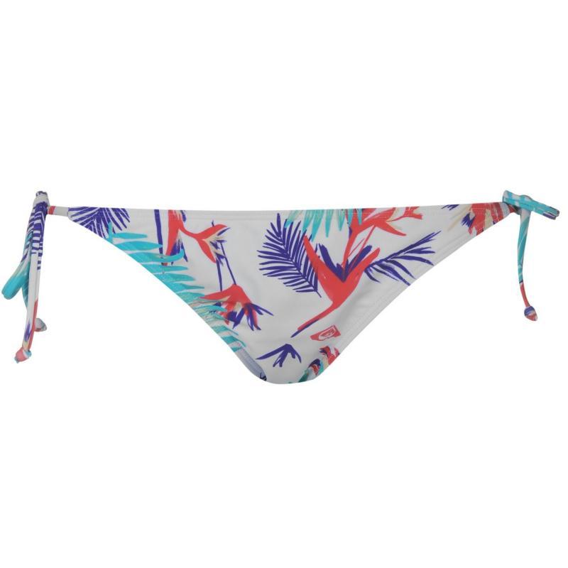 Plavky Roxy Waimea Bikini Bottoms Ladies White Palm