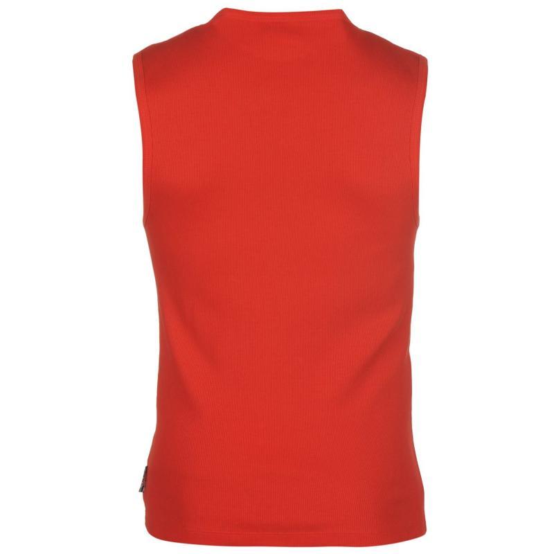 Tílko Lee Cooper Rib Vest Mens Bright Red