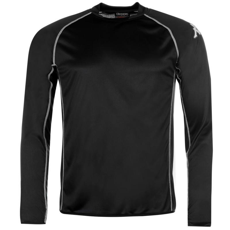 Tričko Kappa Masa Long Sleeve Football Tee Mens Black