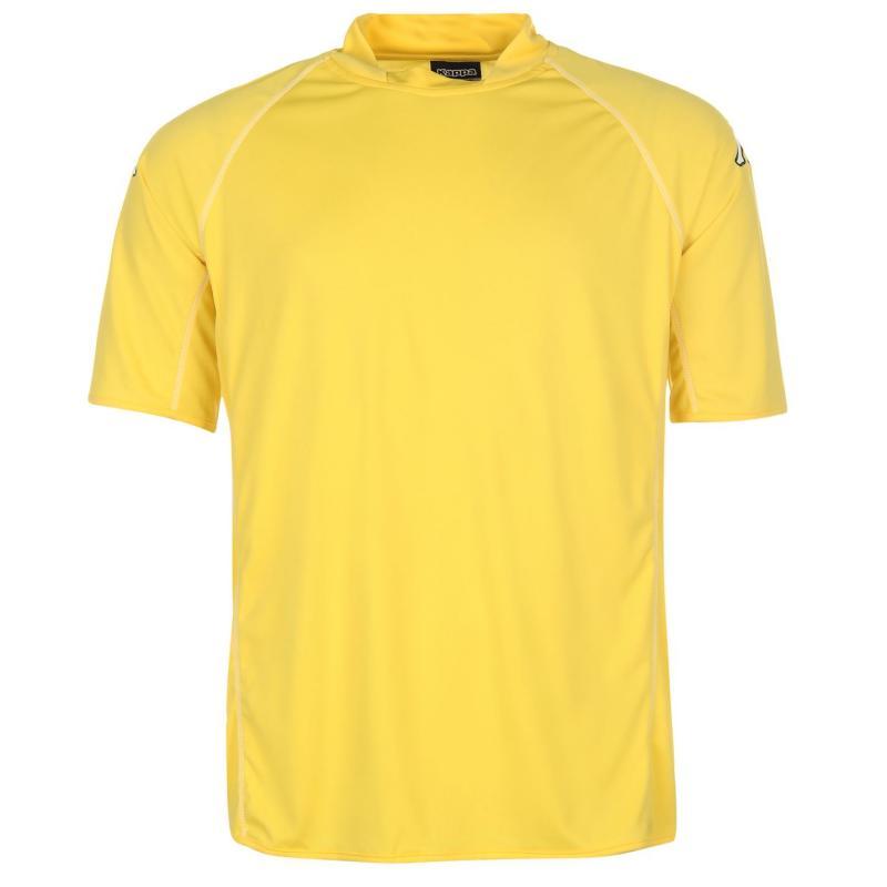 Tričko Kappa Masa Short Sleeve Football Tee Mens Yellow