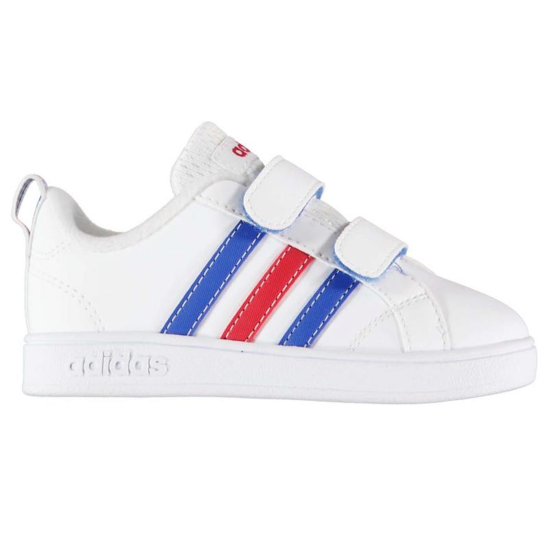Boty adidas Advantage Leather Infant Boys Trainers White Blue Red 137d631b94d