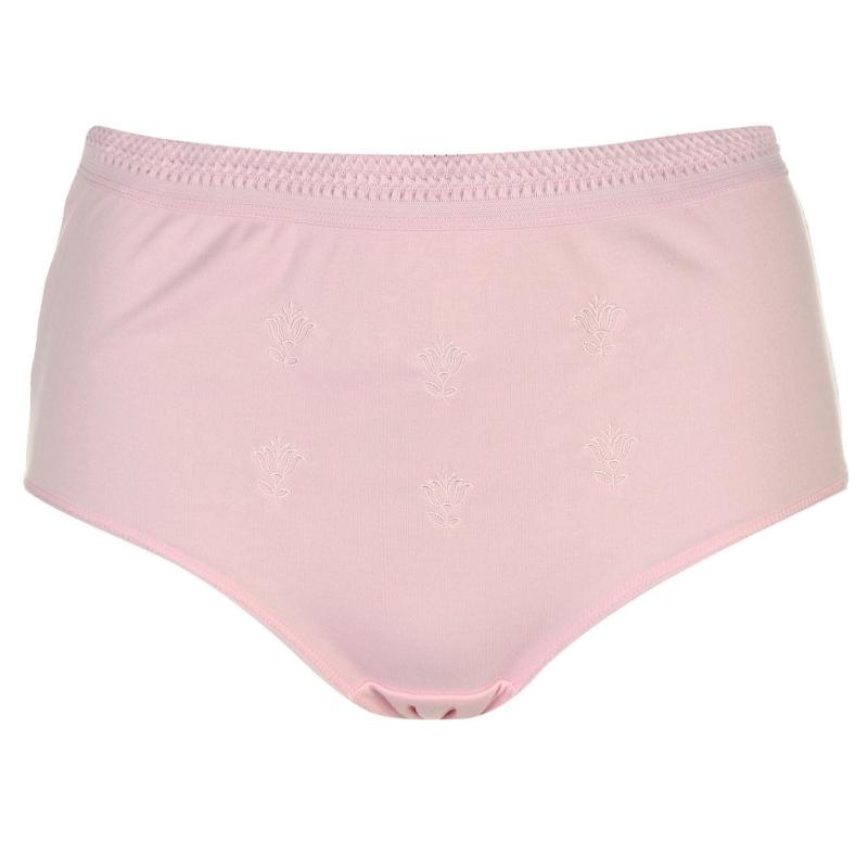 Spodní prádlo Cote De Moi Embroidered Full Briefs Ladies Pink