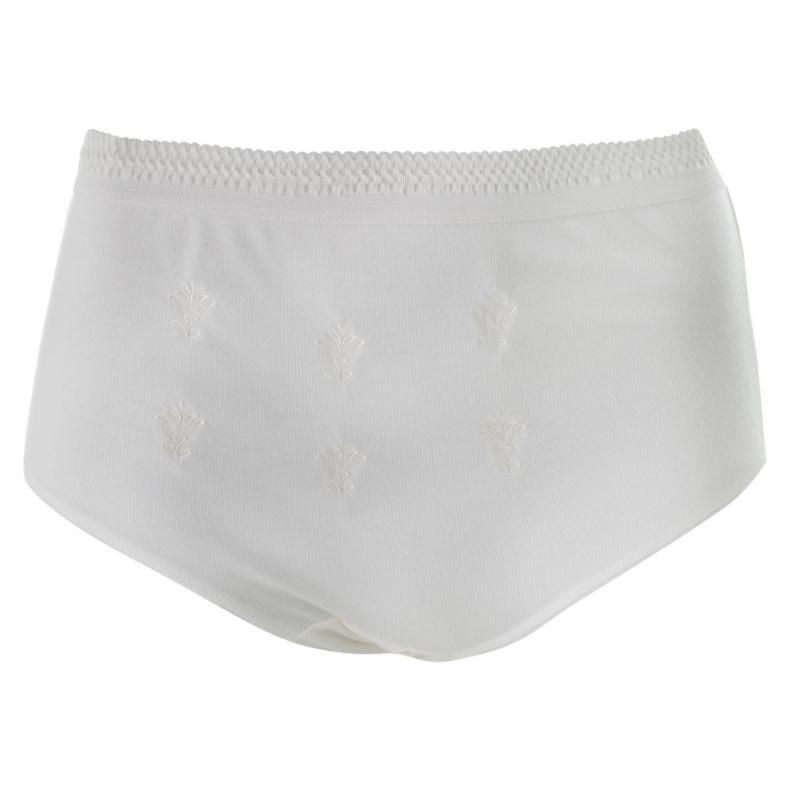 Spodní prádlo Cote De Moi Embroidered Full Briefs Ladies Cream