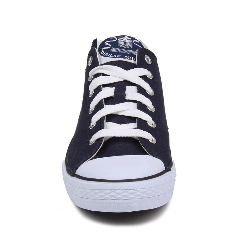 Dunlop Mens Canvas Low Top Trainers Navy