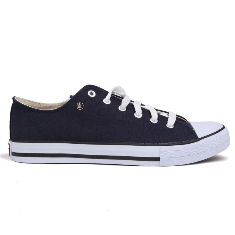 Dunlop Mens Canvas Low Top Trainers Black/Black