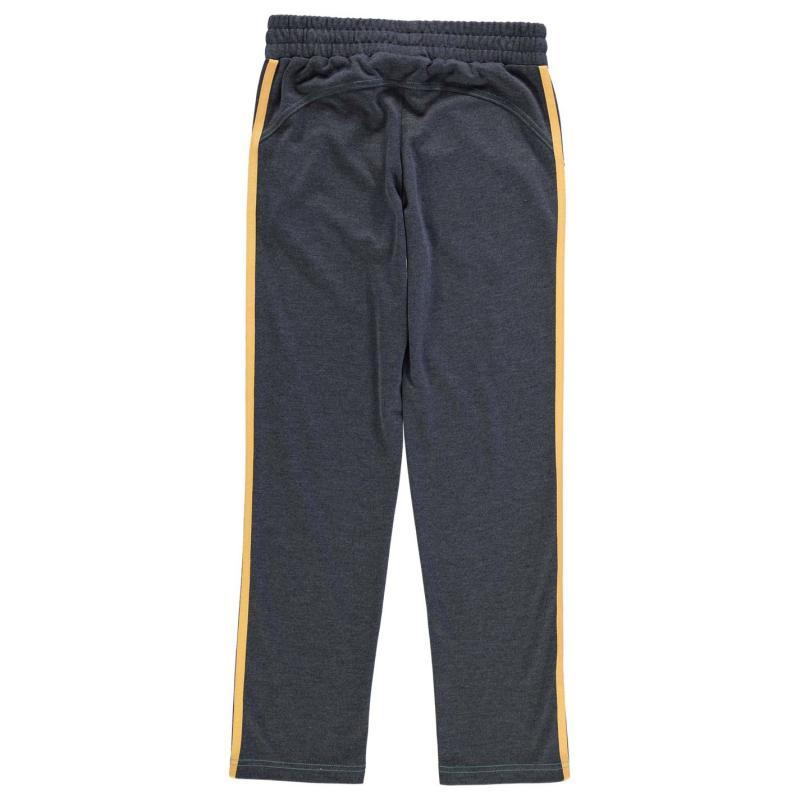 Tepláky Lonsdale Open Hem Sweatpants Junior Girls Charcoal/Green