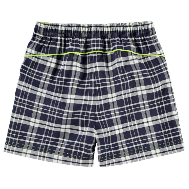 Tričko Slazenger Check Shorts Infant Boys Navy