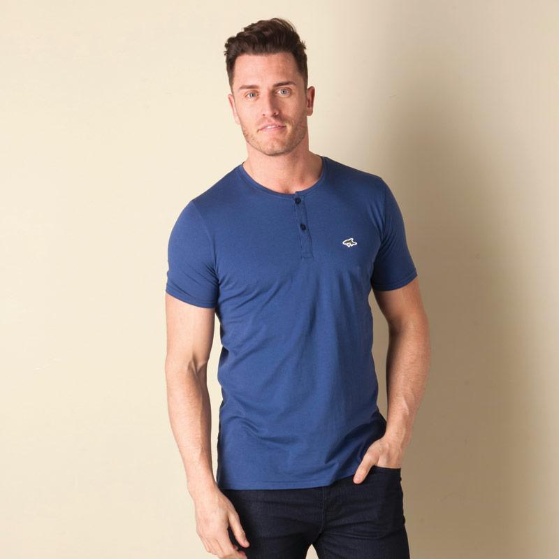 Tričko Le Shark Mens Glengall Button T-Shirt Blue