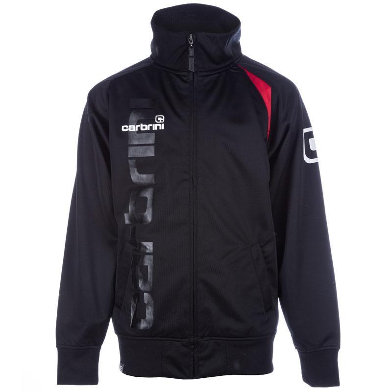 Bunda Carbrini Junior Boys Abbot Line Up Jacket Black Red
