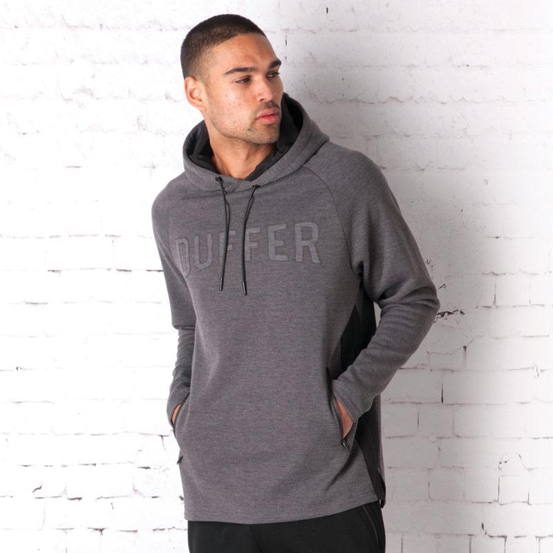 Mikina Duffer Of St George Mens System Overhead Hoody Charcoal