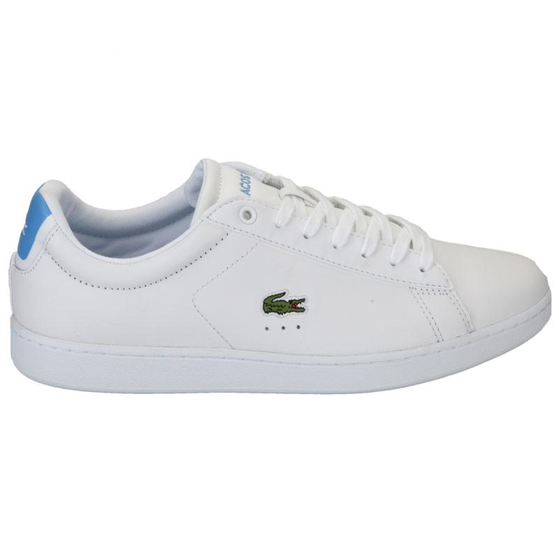 Lacoste Womens Carnaby EVO Trainers White blue Velikost - UK8 (euro 42)