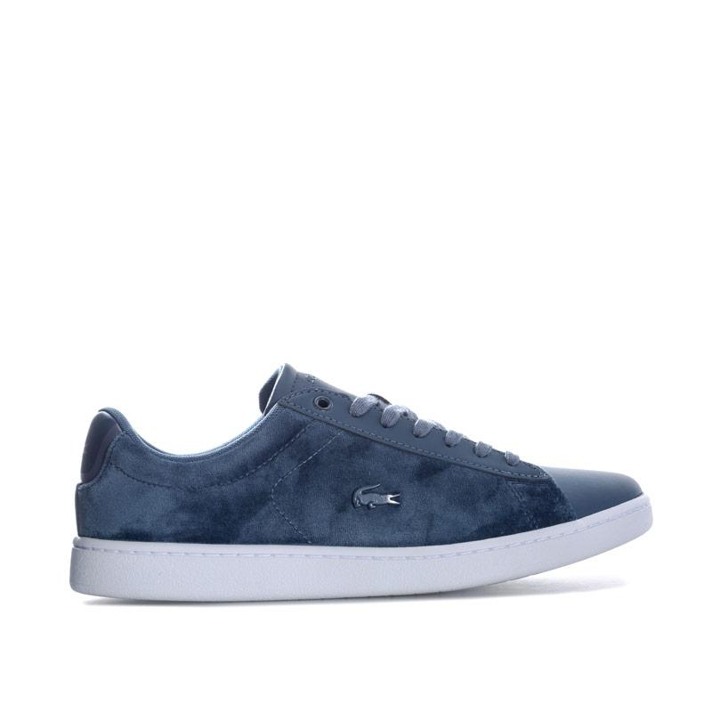 Lacoste Womens Carnaby EVO Trainers White blue