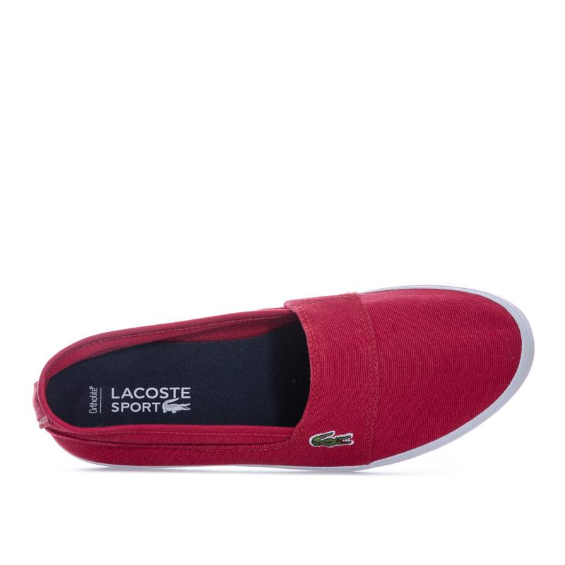 Obuv Lacoste Womens Marice LCR Canvas Trainers Red