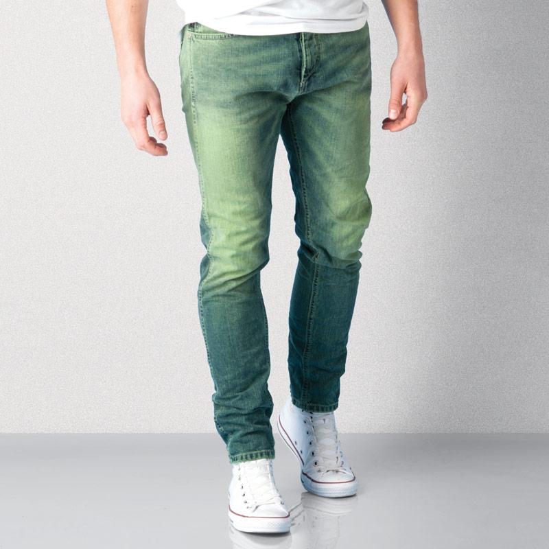 Jack Jones Mens Erik Original Jeans Green