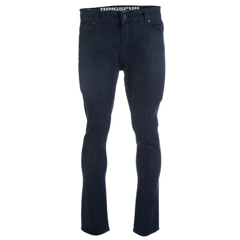 Ringspun Mens Riskin Dark Wash Skinny Fit Jean Blue