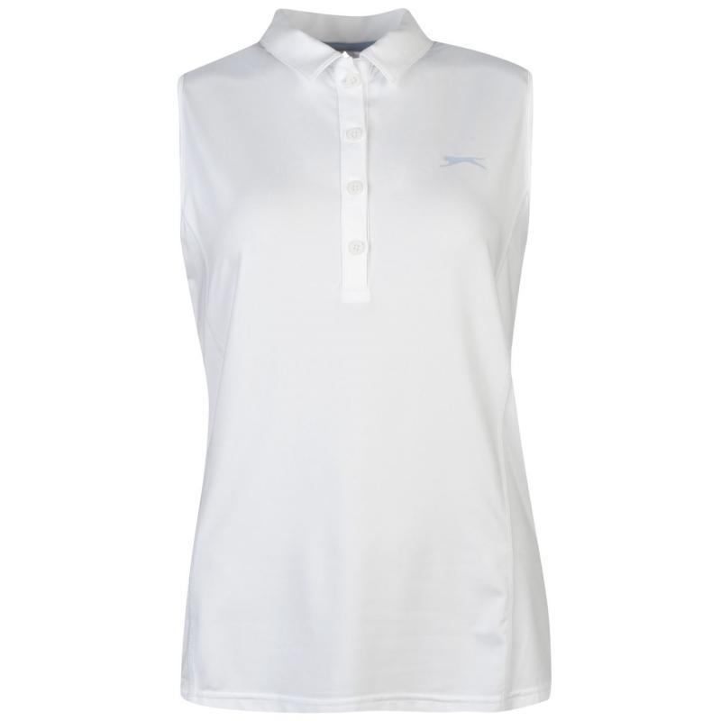 Polokošile Slazenger Sleeveless Golf Polo Shirt Ladies White