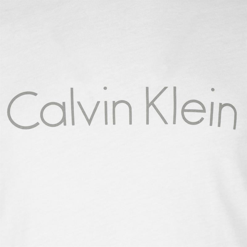 Tričko Calvin Klein Klein Sleepwear Logo Crew T Shirt White