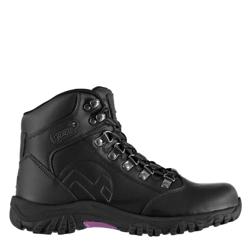 Boty Gelert Leather Ladies Walking Boots Black