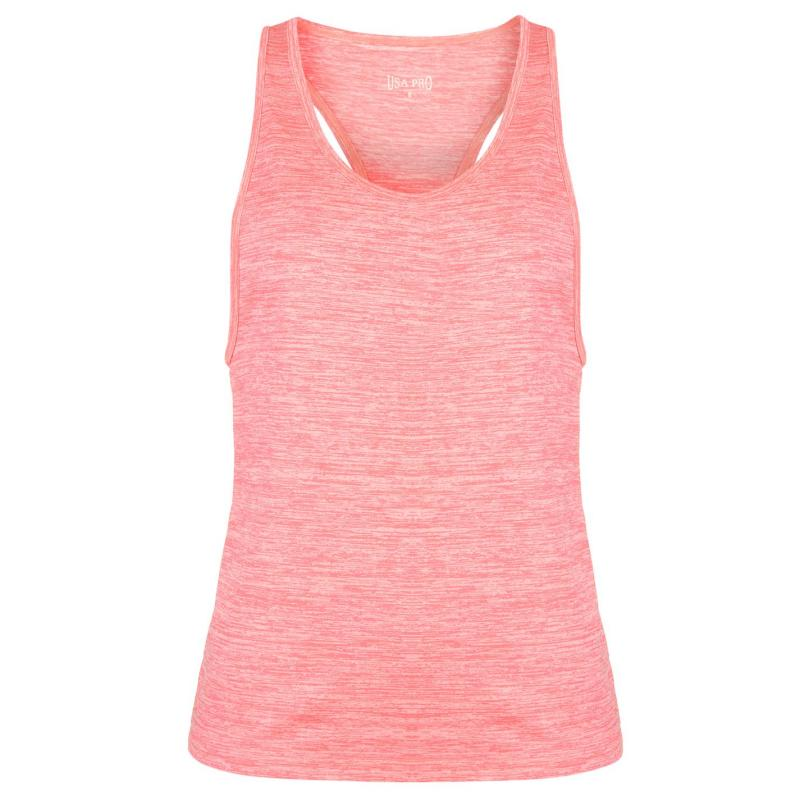 USA Pro Boyfriend Tank Top Ladies Pink Coral