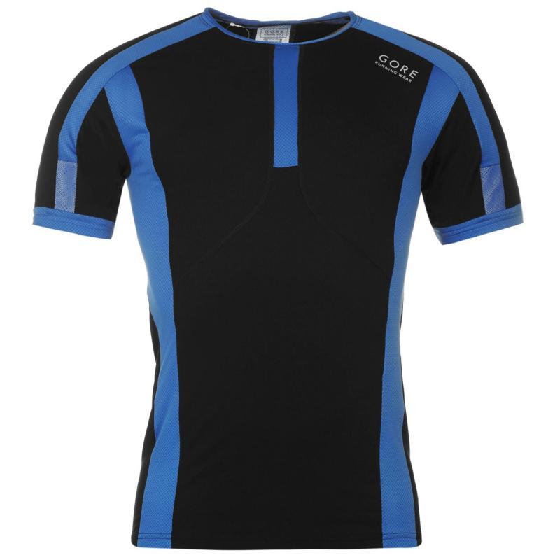 Tričko Gore Air T Shirt Mens Black/Blue