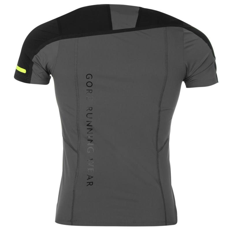 Tričko Gore Fusion Zip Shirt Mens Graphite Grey
