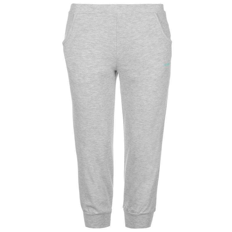 LA Gear Three Quarter Interlock Pants Womens Grey Marl