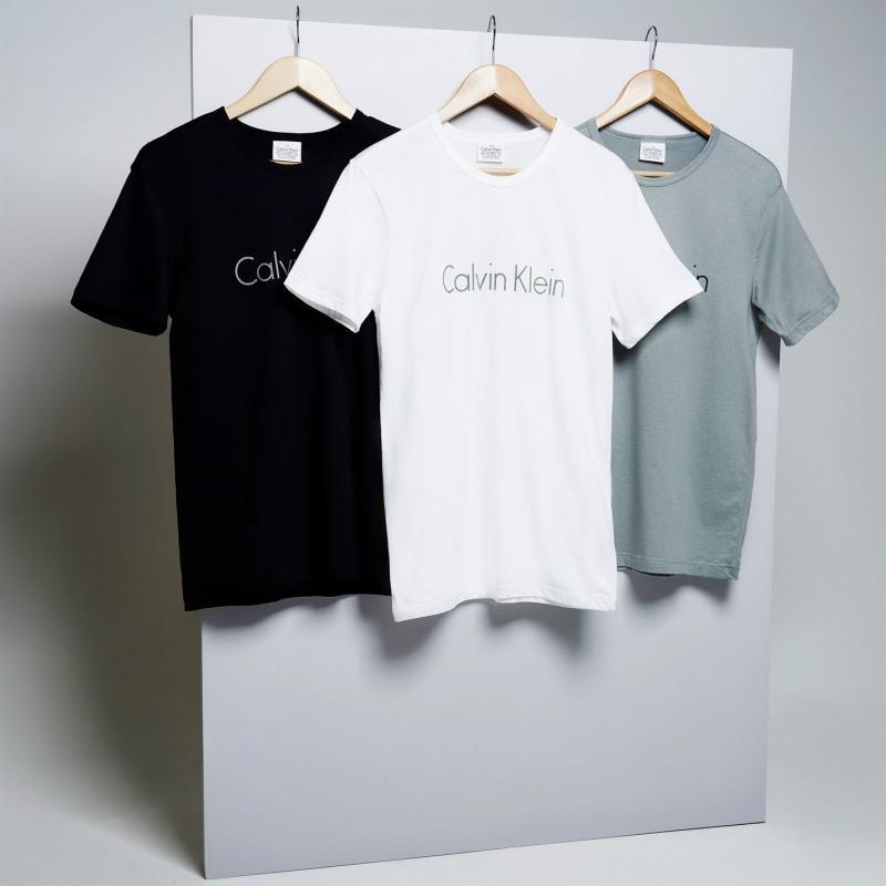 Tričko Calvin Klein Sleepwear Logo Crew T Shirt Blue