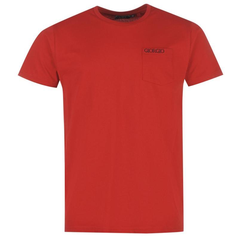 Tričko Giorgio Essential Pocket T Shirt Mens Navy