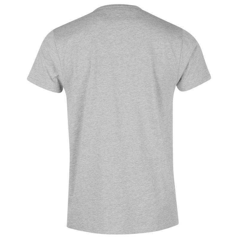 Tričko Giorgio Essential V Neck T Shirt Mens Grey Marl
