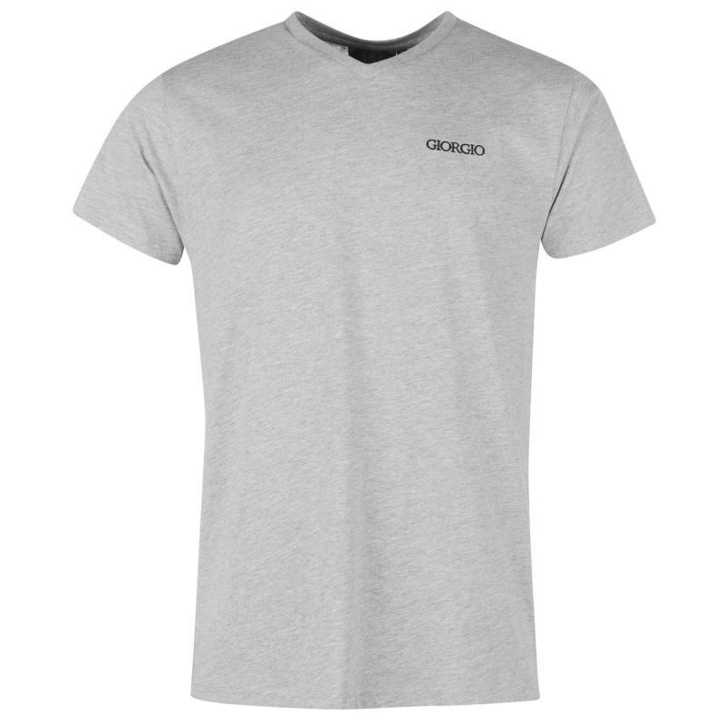 Tričko Giorgio Essential V Neck T Shirt Mens Black