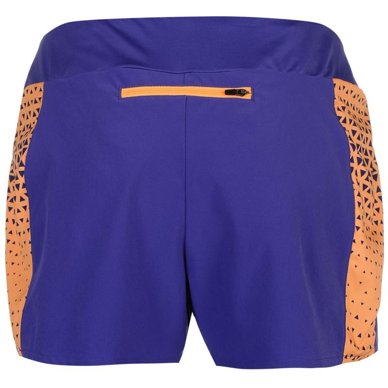 Mizuno Phoenix Running Performance Shorts Ladies Blue/Orange