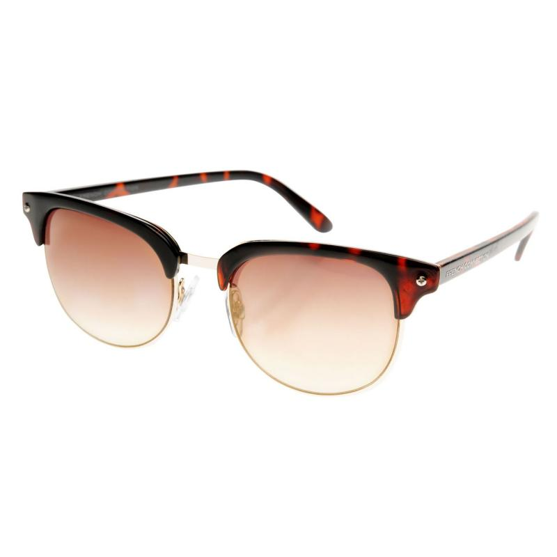 French Connection Clubmaster Sunglasses Ladies Black/Smoke