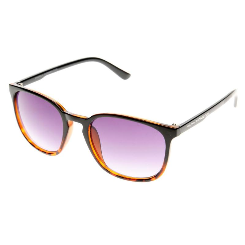 French Connection Plastic Wayfarer Sunglasses Mens Tortoise/Gradie