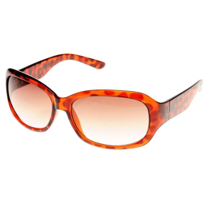 French Connection Plastic Rectangular Sunglasses Ladies Purple/Brown