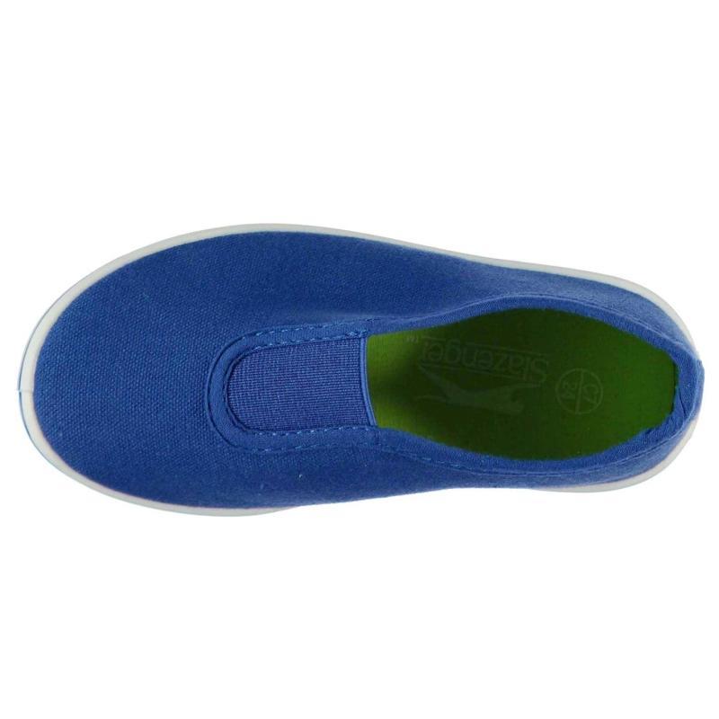 Slazenger Canvas Infant Slip On Shoes Infant Royal