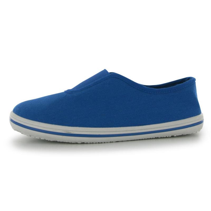 Boty Slazenger Canvas Slip On Shoes Childrens Black/Black