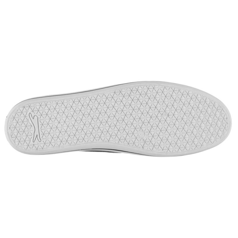 Slazenger Canvas Slip On Shoes Mens Charcoal