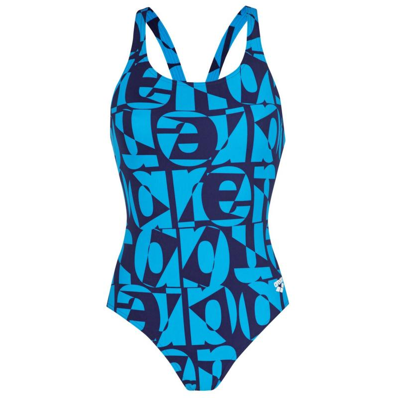 Plavky Arena Swimsuit Navy/Turquoise