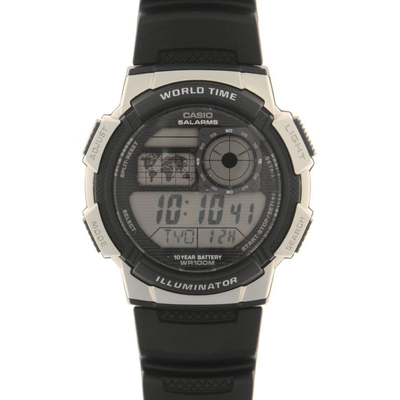 Casio Collection Mens World Time Alarm Chronograph Watch Black