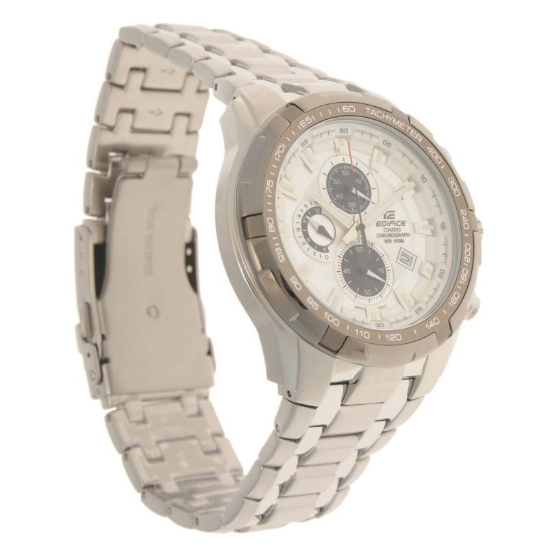 Casio Mens Ediface Chronograph Watch Silver