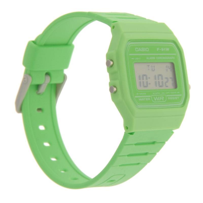 Casio F 91 Watch Mens Orange
