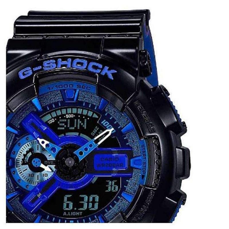 Casio Mens G Shock Alarm Chronograph Watch Black/Red
