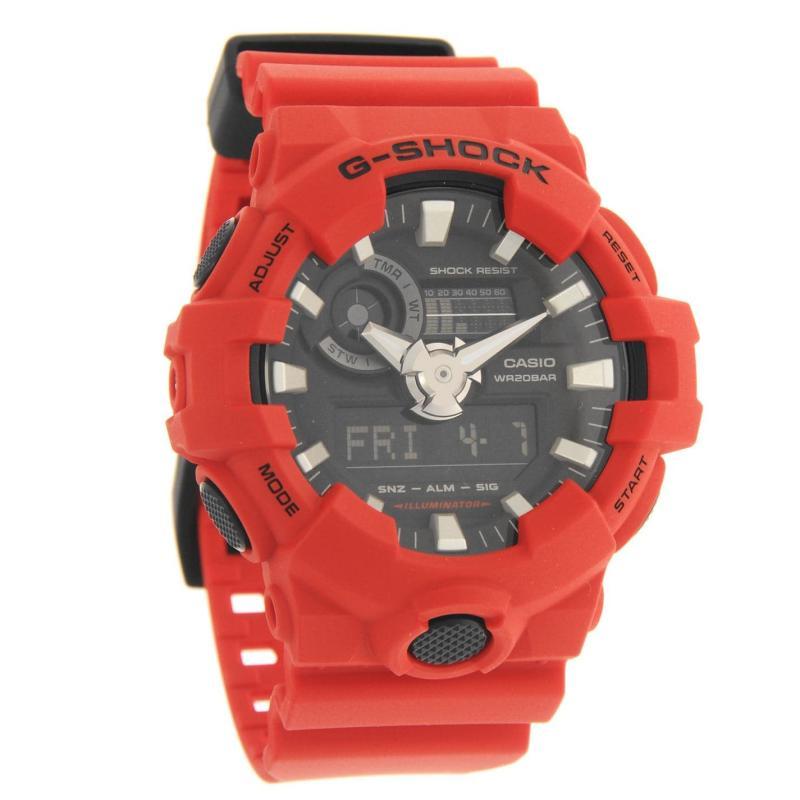 Casio Mens G Shock Alarm Chronograph Watch Red